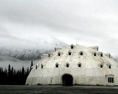 An abandoned igloo resort hotel in Alaska / mythical dome of the White North.  photo by Sara Heinrichs