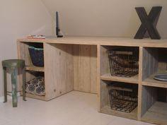 Wandkasten - Wandkast/vakkenkast steigerhout - Een uniek product van purewooddesign op DaWanda
