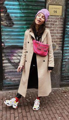 Pinterest: DEBORAHPRAHA ♥️ casual winter street style look with balenciaga sneakers