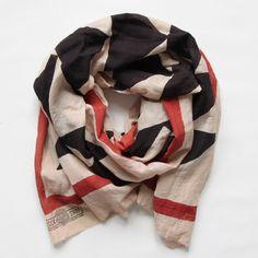 FLOCK | BLACK + RED - blockshop textiles scarf