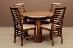 Shabby chick drewniany stół rozkładany do 235cm i 4 drewniane krzesła Warszawa - image 1