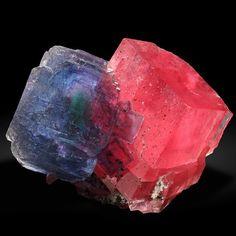Fluorite and Rhodochrosite - Alma, Colorado