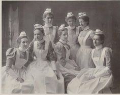New York - The Rochester Homeopathic Nurses Training School, class of 1899. Miss Elizabeth Weber is at center. Miss Weber served as the Assistant Hospital Supervisor for the Homeopathic hospital until her retirement in 1930. (from Iman Navab)