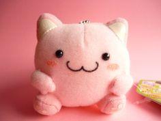 Kawaii Cute Maruneko Club Keychain Plush Toy Sufi Pink