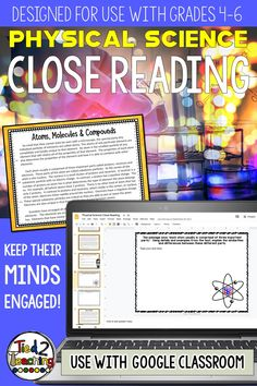 This reading passages pack includes 8 DIGITAL physical science close reading informational passages on a variety highly tested physical science topics. Each passage also has 4 text dependent questions that drive students back to the text to extrapolate the needed information. In addition, for every passage you will receive both an informational and a opinion / argument prompt the students can write to.