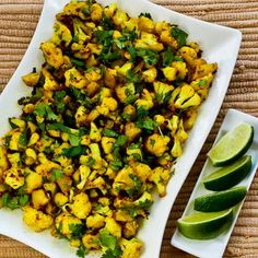 Curried Sauteed Cauliflower is quick and delicious! [from KalynsKitchen.com] #LowCarb #GlutenFree #SouthBeachDiet #Vegetarian