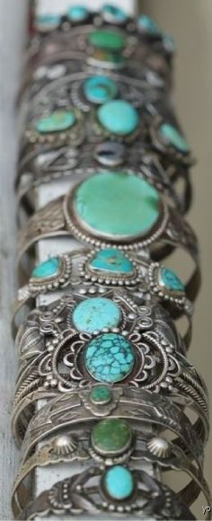 Turq cuffs/bangles ♥✤ | Keep the Glamour | BeStayBeautiful