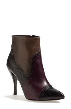 """Free shipping and returns on Pedro Garcia 'Harriet' Brogue Boot (Women) (Nordstrom Exclusive) at Nordstrom.com. <p><B STYLE=""""COLOR:#990000"""">Pre-order this style today! Add to Shopping Bag to view approximate ship date. You'll be charged only when your item ships.</b></p><br>Impeccable brogue detailing lends vintage refinement to a pointy-toe ankle boot cast in burnished calfskin leather."""