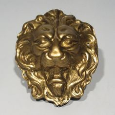 Vintage French Bronze Ornament, Lion's Head, Numbered, 5 1/2 x 4 5/8 Inches in Antiques, Architectural & Garden, Hardware, Other Antique Hardware | eBay