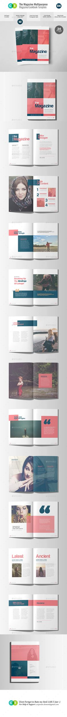 THE MAGAZINE | Multipurpose Magazine Lookbook V04 — InDesign INDD #art magazine #lookbook • Download ➝ https://graphicriver.net/item/the-magazine-multipurpose-magazine-lookbook-v04/20387917?ref=pxcr