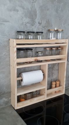 Diy Kitchen Storage, Home Decor Kitchen, Diy Storage, Shoe Box Storage, Diy Para A Casa, Diy Casa, Wooden Pallet Projects, Woodworking Projects Diy, Diy Pallet Kitchen Ideas