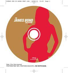 The James Bond collection CD onbody disc 1. Client: Silva Screen Records. Circa 2002. © Sean Mowle.