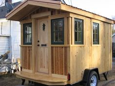 franks diy micro cabin tiny house on wheels 001   Franks DIY Micro Cabin on Wheels: Interview and Tour
