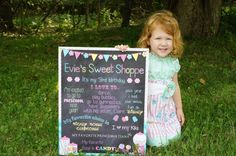 Custom Printable Sweet Shoppe Candy Birthday by ChalkingItUpBoards, $30.00