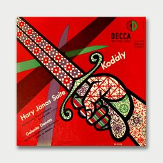 ART IN MID-CENTURY ÁLBUM COVERS - Kodály Hary János Suite and Galanta Dances / Decca Records, 1951 Cover art by Erik Nitsche