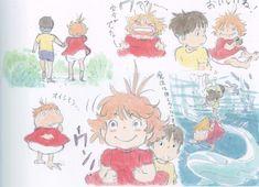 Enjoy a collection of Concept Art from Studio Ghibli Ponyo, featuring Character, Layout, Prop & Background Design. Storyboard, Studio Ghibli Art, Walt Disney, Girls Anime, Cartoon Sketches, Hayao Miyazaki, Sketch Inspiration, Fan Art, Totoro