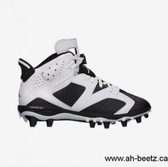 0f548bc0b7c 2017 Nike Hyperdunk Men s Jordan 6 Retro Td White Black Shoes Canada  SQF640300 Jordan Football