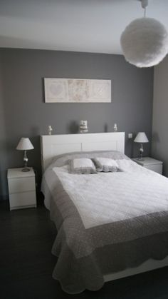 Fine Deco Chambre Grise Et Blanche that you must know, You?re in good company if you?re looking for Deco Chambre Grise Et Blanche Home Bedroom, Master Bedroom, Bedroom Decor, Bedrooms, My New Room, My Room, Cool Furniture, Sweet Home, House Design