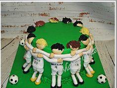 Fotbalový tým - football team cake