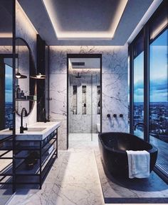 Fresh contemporary and luxury bathroom design ideas for your home. - Fresh contemporary and luxury bathroom design ideas for your home. See more clicking on the image. Interior Design Minimalist, Home Interior Design, Luxury Interior, Luxury Decor, Contemporary Interior, Design Interiors, Modern Home Interior, Modern Design, Marble Interior