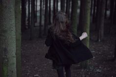 {Running never feels more free than going through the wood in search for fairytales. -AH}