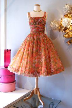 """1950's """"Gigi Young"""" Garden Party Dress"""