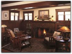 LOVE This Craftsman Style! Natural Light Into A Cozy Room. Part 83