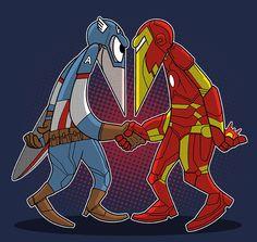 Hero vs Hero T-Shirt - Superhero T-Shirt is $11 today at Ript!