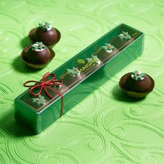 Christmas Pudding Brandy Truffles - ready for giving.  http://www.haighschocolates.com.au/chocolates/browse/#christmas-collection