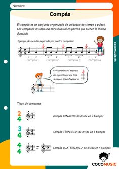 Music Lessons For Kids, Music For Kids, Guitar Classes, Music Worksheets, Piano Teaching, Music Class, Learning Spanish, Musicals, Homeschool
