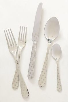 Polka Dotted Flatware #Anthropologie