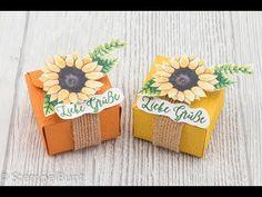 """Teelicht-Box """"Sunflower"""" (cm+inch) mit Produkten von Stampin'Up!® - YouTube"""