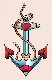 Image result for tattoo anchor old school