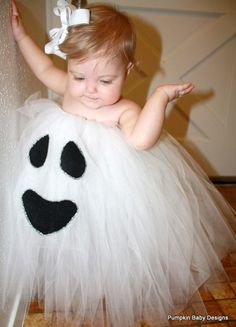 Tutu ghost for Halloween? Might need some minor adjustments for my Montana Halloween Grand Baby:)
