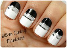 Silver lining manicure