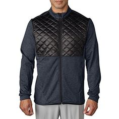 Adidas Golf 2016 Climaheat Prime Fill Insulated Quilted Mens Golf Thermal Jacket Dark Grey HeatherBlack XXL -- To view further for this item, visit the image link.