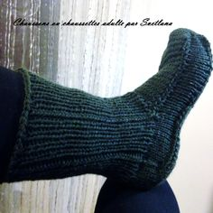 Tutoriel tricot chaussons ou chaussettes adulte.Tutorial knit adult slippers or socks