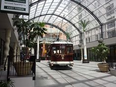 Tram in the Cathedral Junction