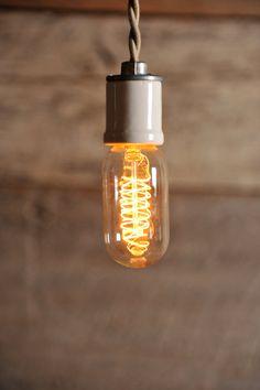 Vintage Edison style bulb, spiral carbon filament...