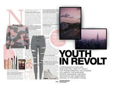 """""""Youth In Revolt"""" by xo-nataliiee-xo ❤ liked on Polyvore featuring Hedi Slimane, Topshop, Timberland, Charlotte Tilbury, Ilia, NARS Cosmetics, Bobbi Brown Cosmetics and Tory Burch"""