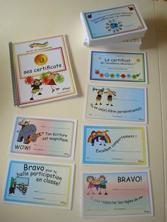 Les certificats French Teacher, Teaching French, French Classroom, School Classroom, End Of School Year, First Day Of School, Behavior Management, Classroom Management, French Resources