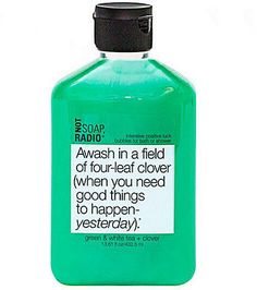 Not Soap, Radio Awash In A Field of Four - Bubbles for Bath or Shower 13.61 oz (402.5 ml)