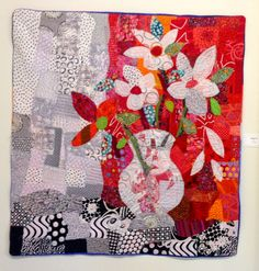 I went to the show of Freddy Moran  collage quilts at La Conner Quilt Museum  yesterday.   WOW!  She is so very inspiring.           Inspir...