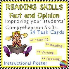 Grade / Year Level :: Primary Education :: Year 3 - 6 :: Reading Activity Comprehension Skills Fact and Opinion Poster and Task Cards