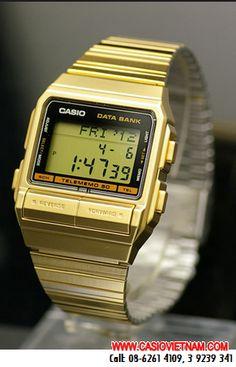 Đồng hồ điện tử Casio Databank DB-380G-1DF chính hãng Casio Japan