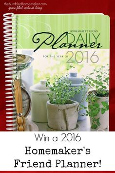 Win a 2016 Homemaker's Friend Planner in our Christmas Giveaway Week! Plus, get 20% off anything in the Homemaker's Depot store this week!!