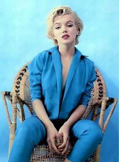 marilyn monroe  | Marilyn Monroe in blue♡