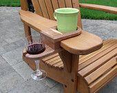 Cup und Weinglas Halter für Adirondack Stuhl