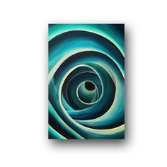 Large Canvas Art Abstract Painting Original Painting on Canvas Turquoise Painting Acrylic Contemporary Art Modern Art 36x24 by Heather Day. $195.00, via Etsy.