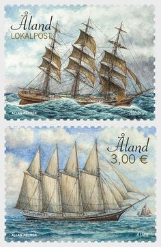 Sailing Ships - Albania & Atlas | Aland Islands Stamps | Worldwide Stamps, Coins Banknotes and Accessories for Collectors | WOPA+